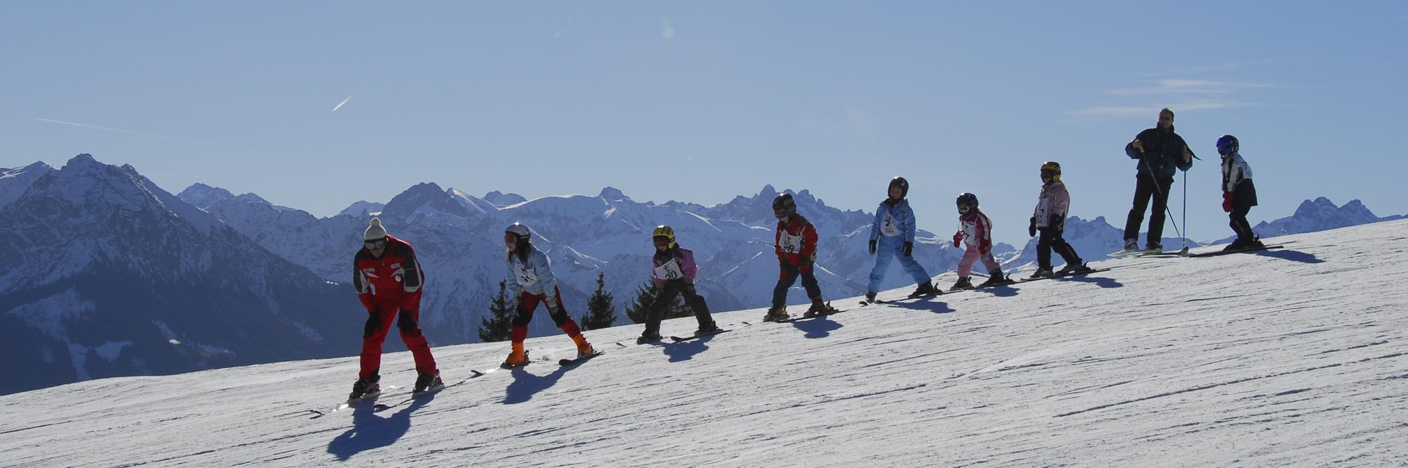 Skifahren lernen im Allgäu