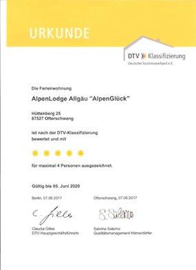 Appartement AlpenGlück mit 5 DTV-Sternen